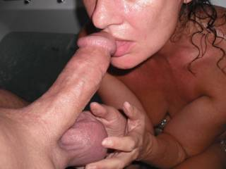 Huge balls wife cum