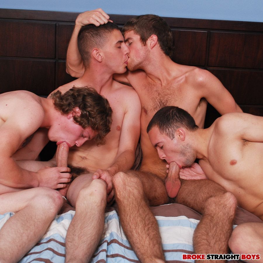 Males in orgy