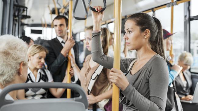 Groping woman on public