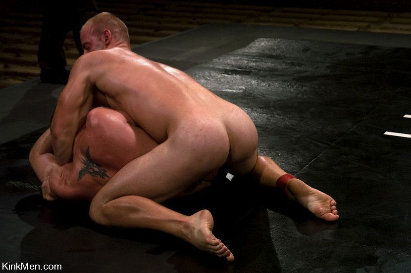 Nudist wrestling with hard cocks