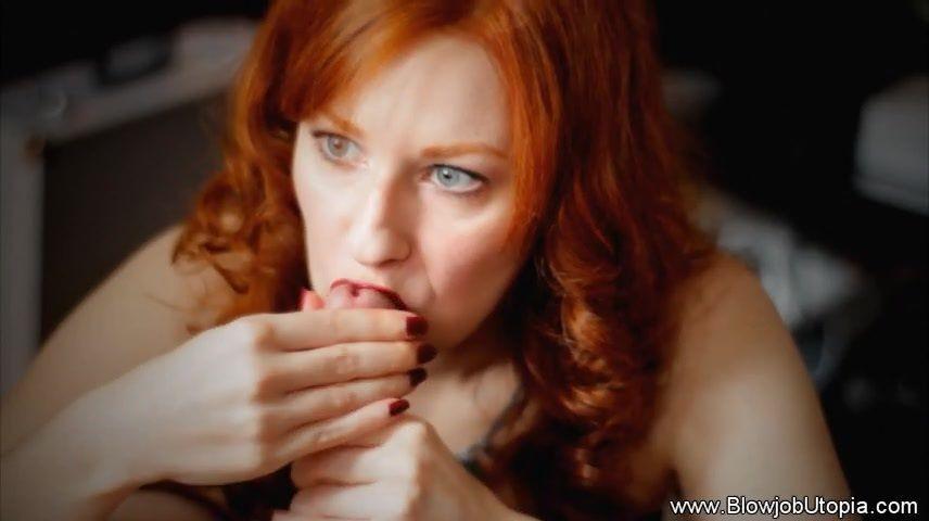 Milf redhead blow job
