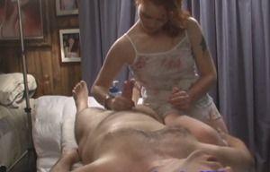 Hidden camera milf massage