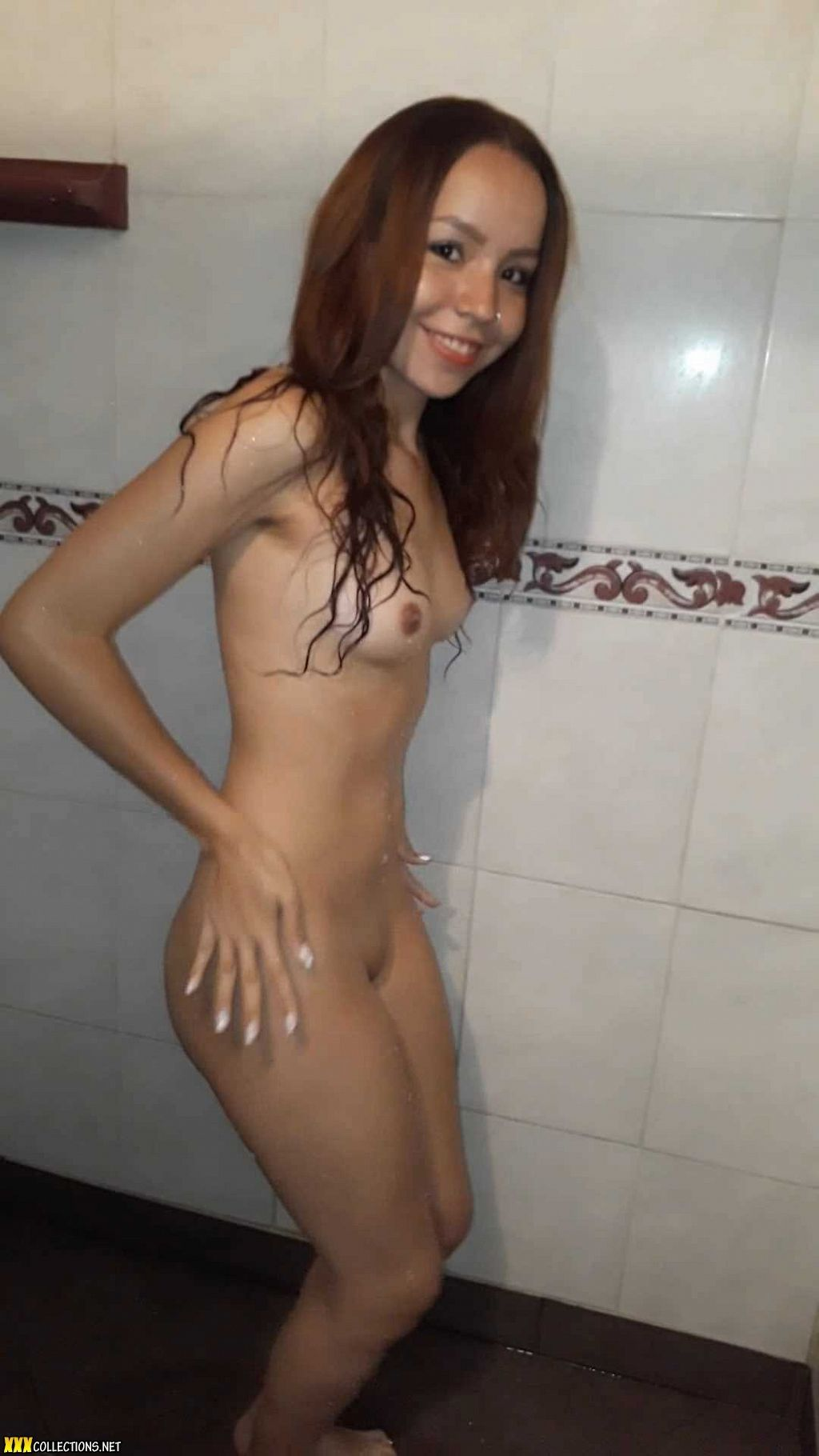Nudist family shower