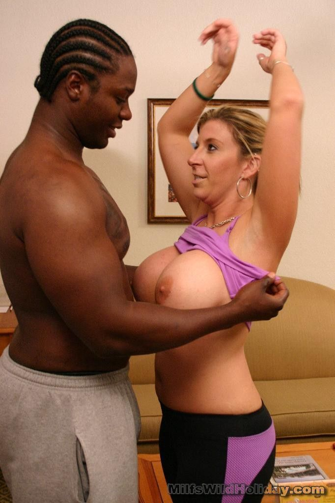 Hot milf fucks black guy