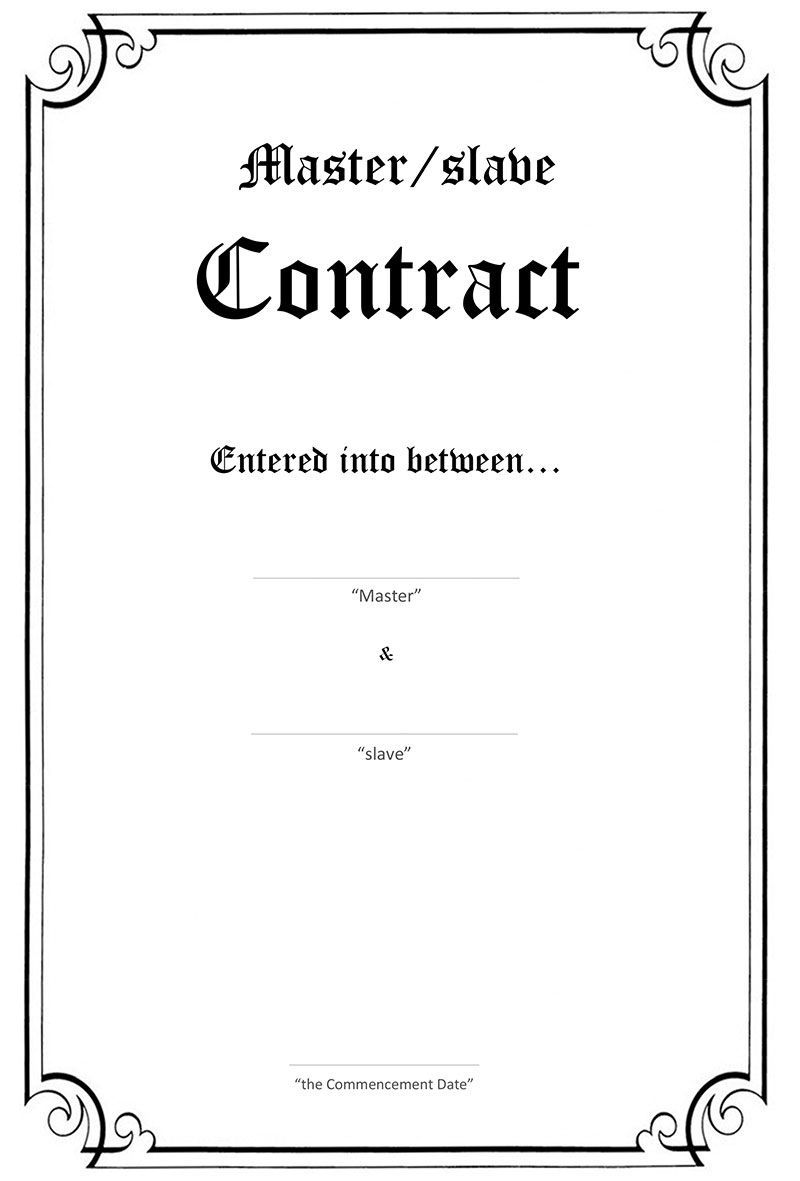 Fetish sex contracts