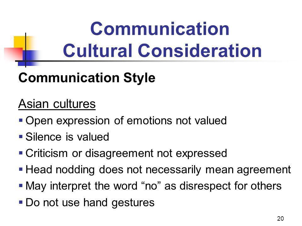 Opal reccomend Asian communication style