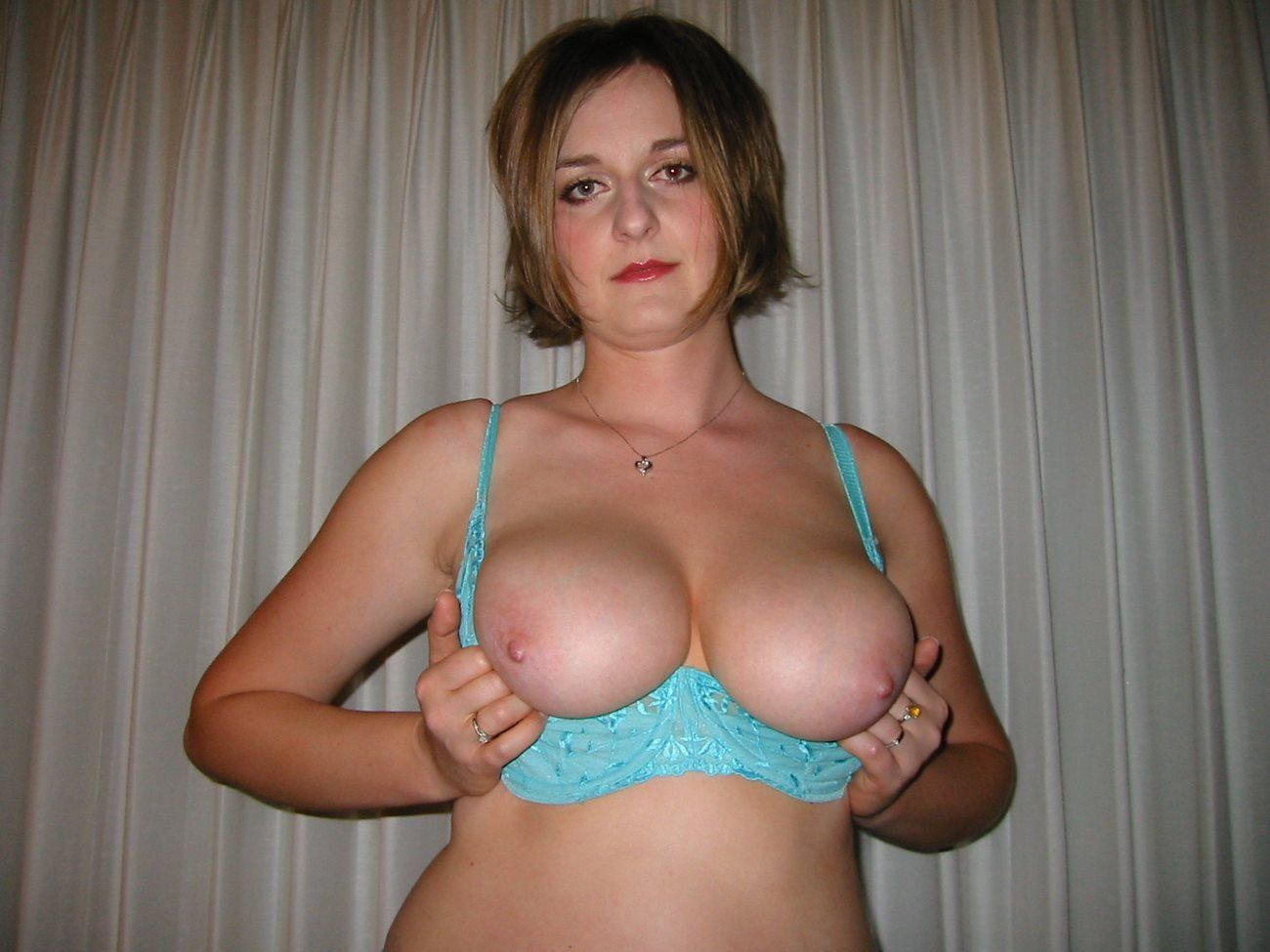 bare amateur breasts wife