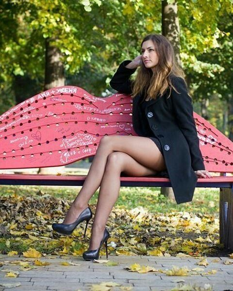 best of And pantyhose legs Crossed