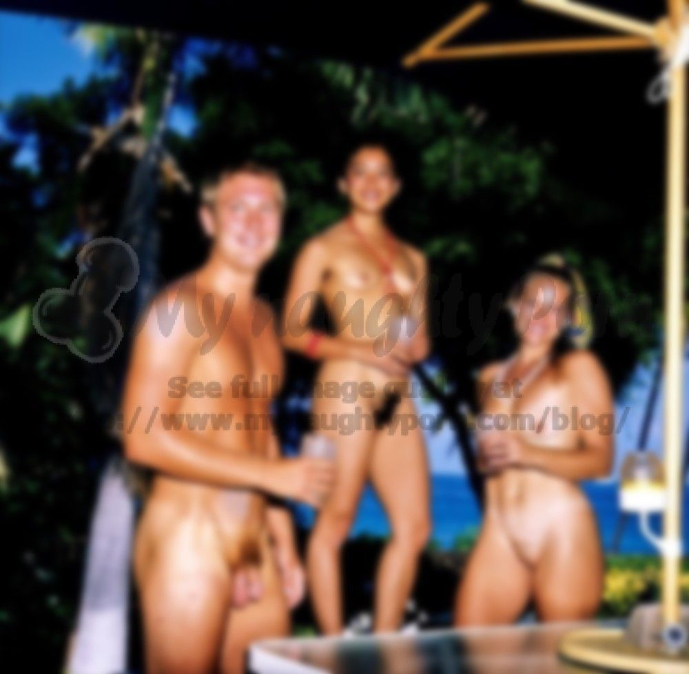 Young nudist party