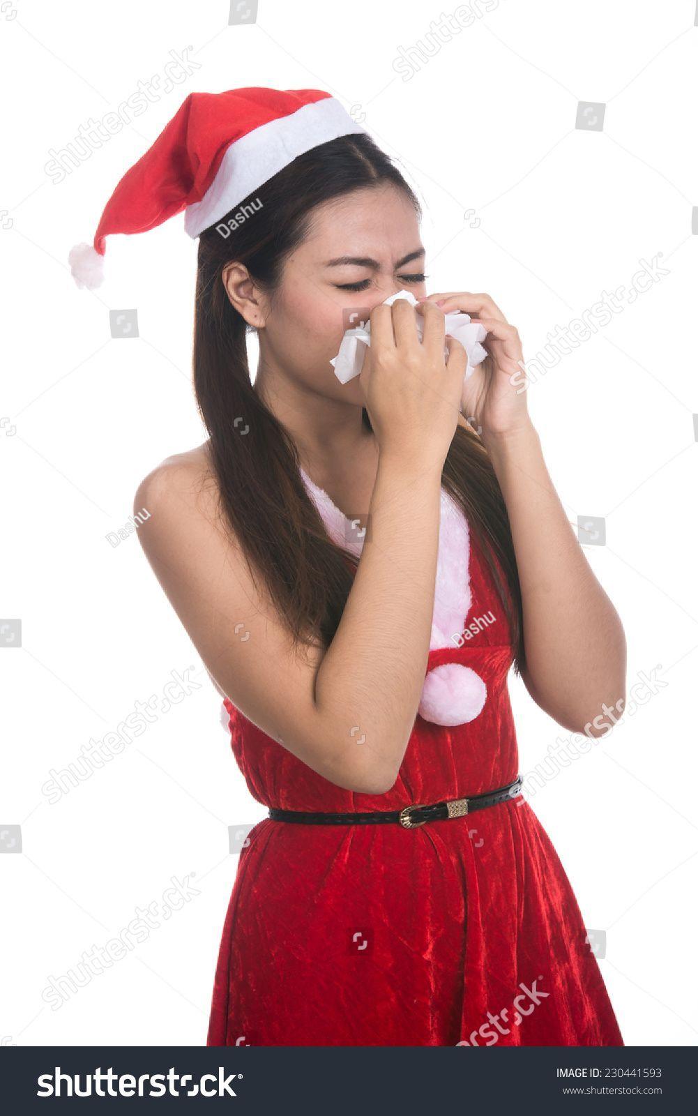 Asian girl santa