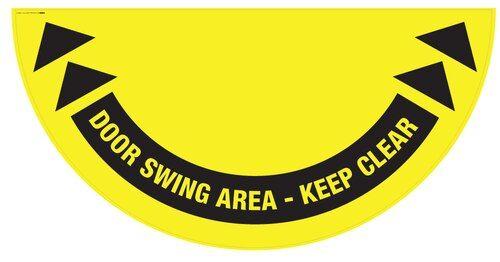 Swinging doorway graphic sign