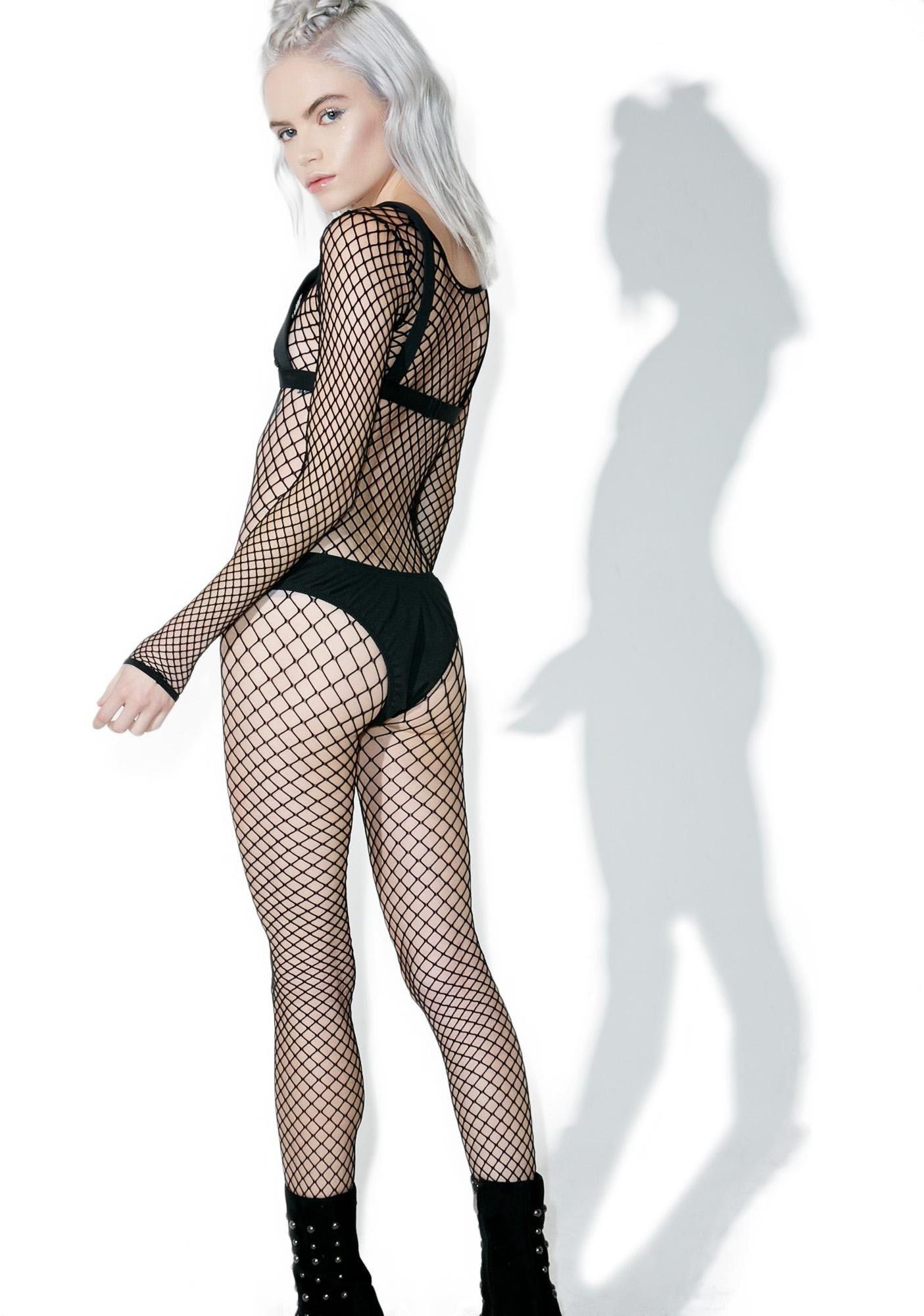Body fetish fishnet