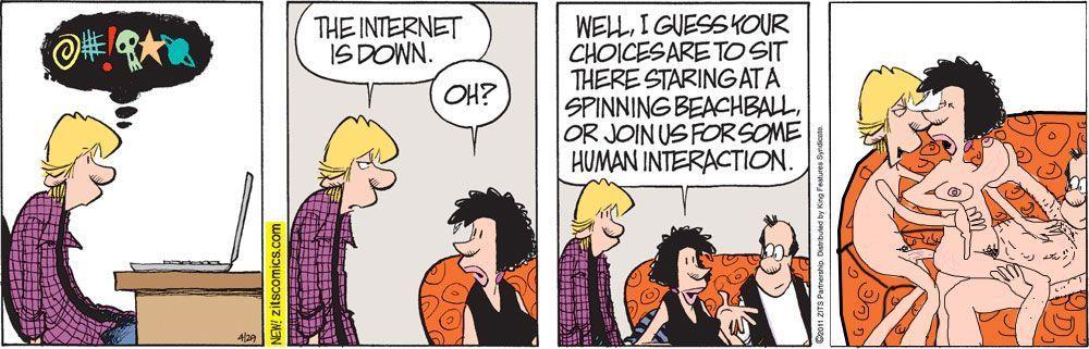 Thanks. Who softcore comic strip