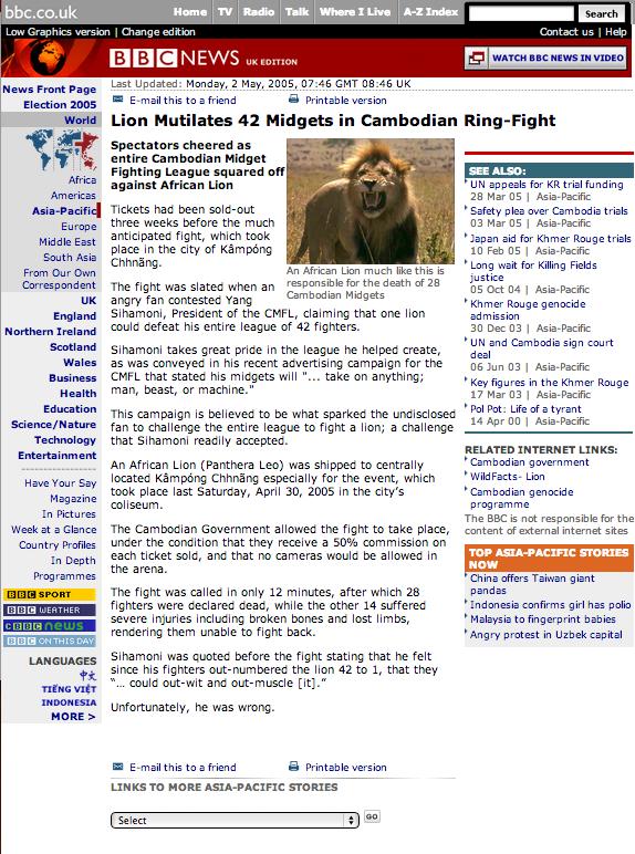 midget Cambodia lion