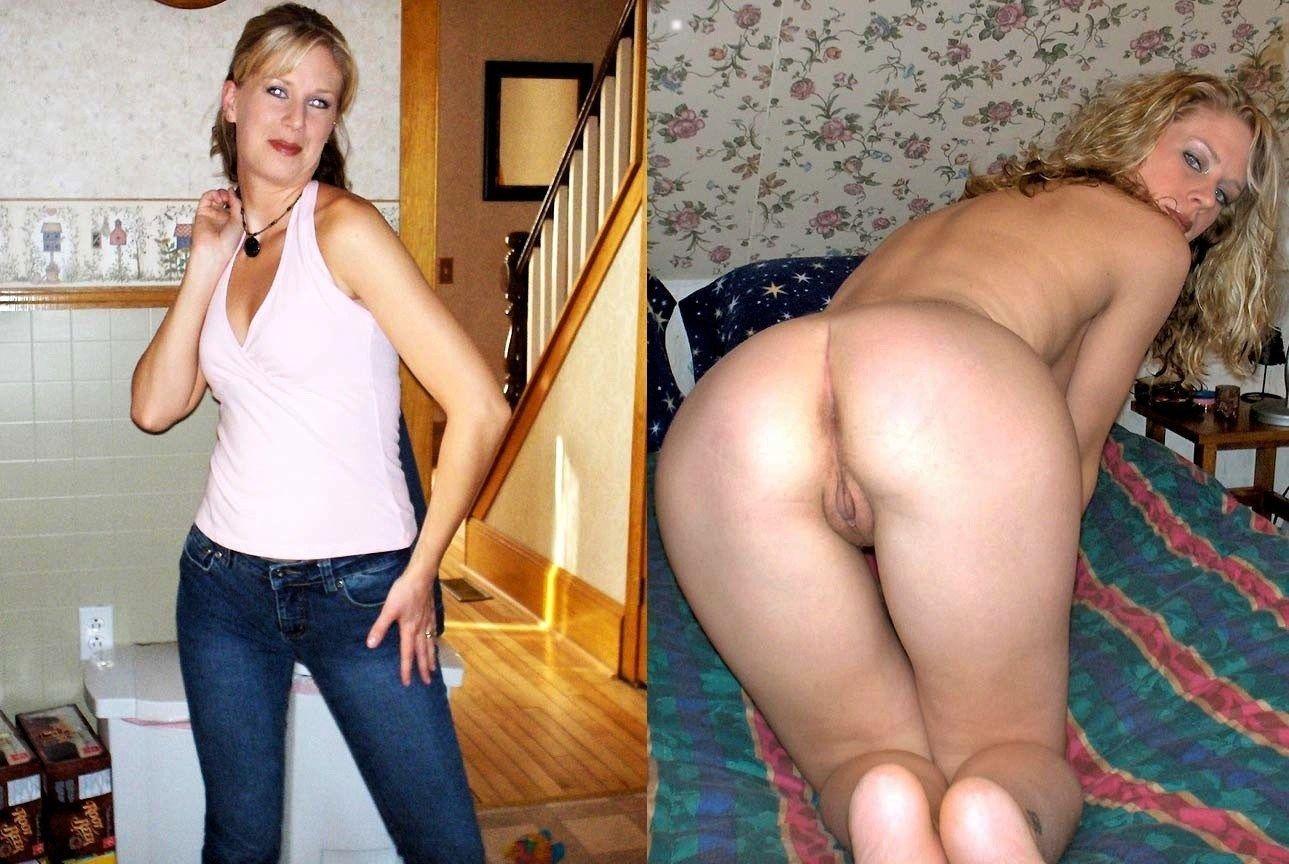 Nudist doing normal activities