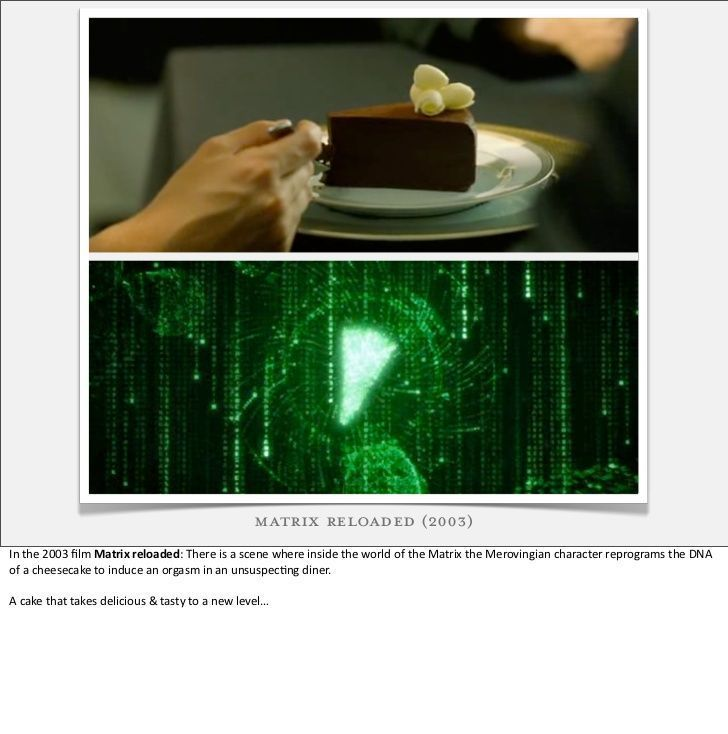 Matrix restaraunt orgasm