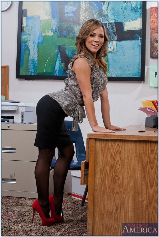 Latina office porn