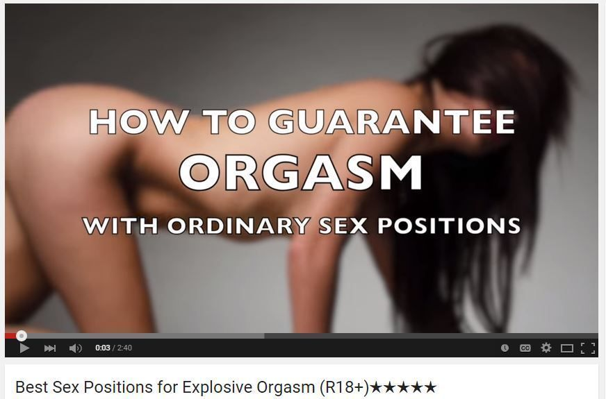 Share your videos on different sex positions opinion