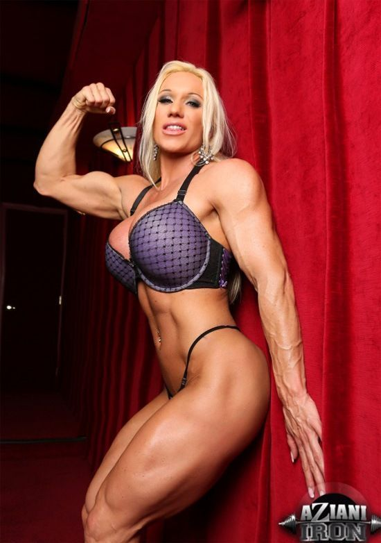 Busty female muscle worship video
