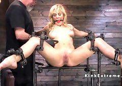 best of Grueling through Big suffers bondage.. tube blonde pain Hot Tits slut suspension