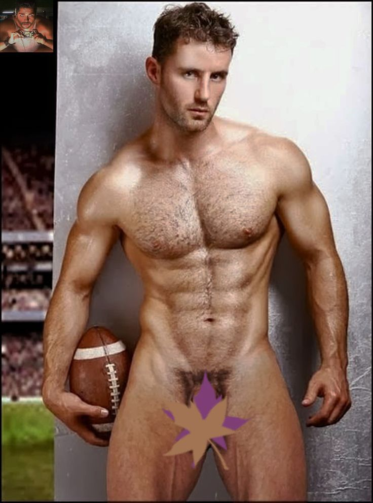 Adult male nudes football