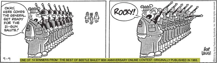 Perhaps shall comic strip about whos beetle bailey the sorry