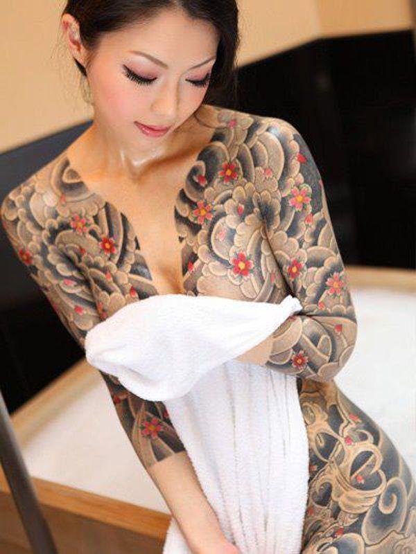 Asian girls full-body tattoos