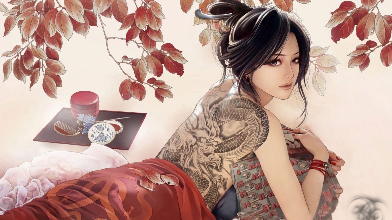 best of Tattoos Asian girls full-body