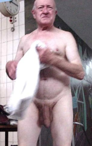 Shower woman in old Naked with man