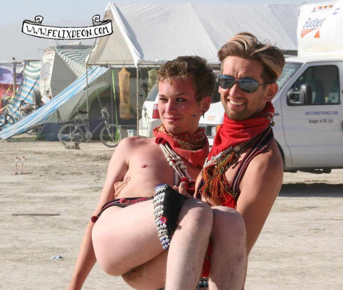 Think, that burning man porn