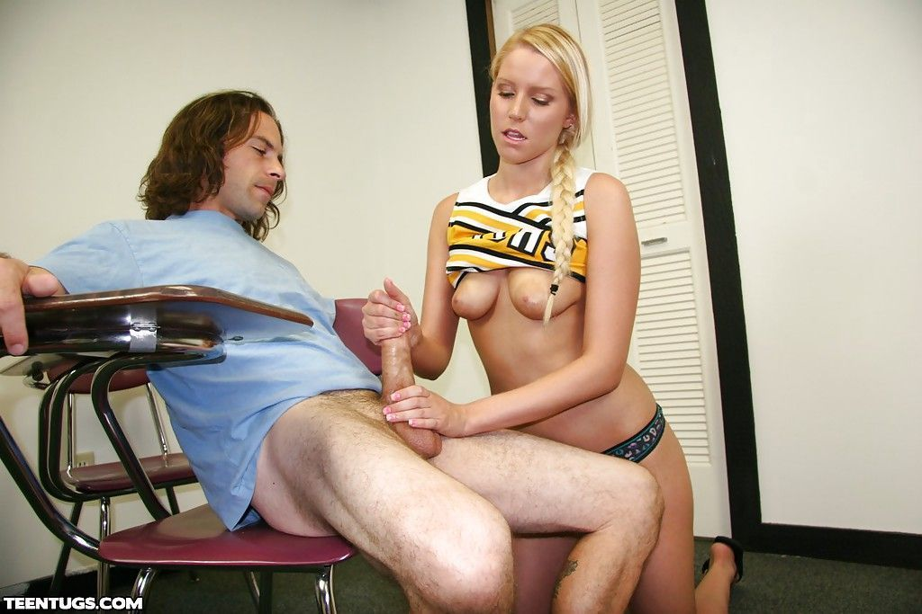 Cheerleader handjob teachers pet