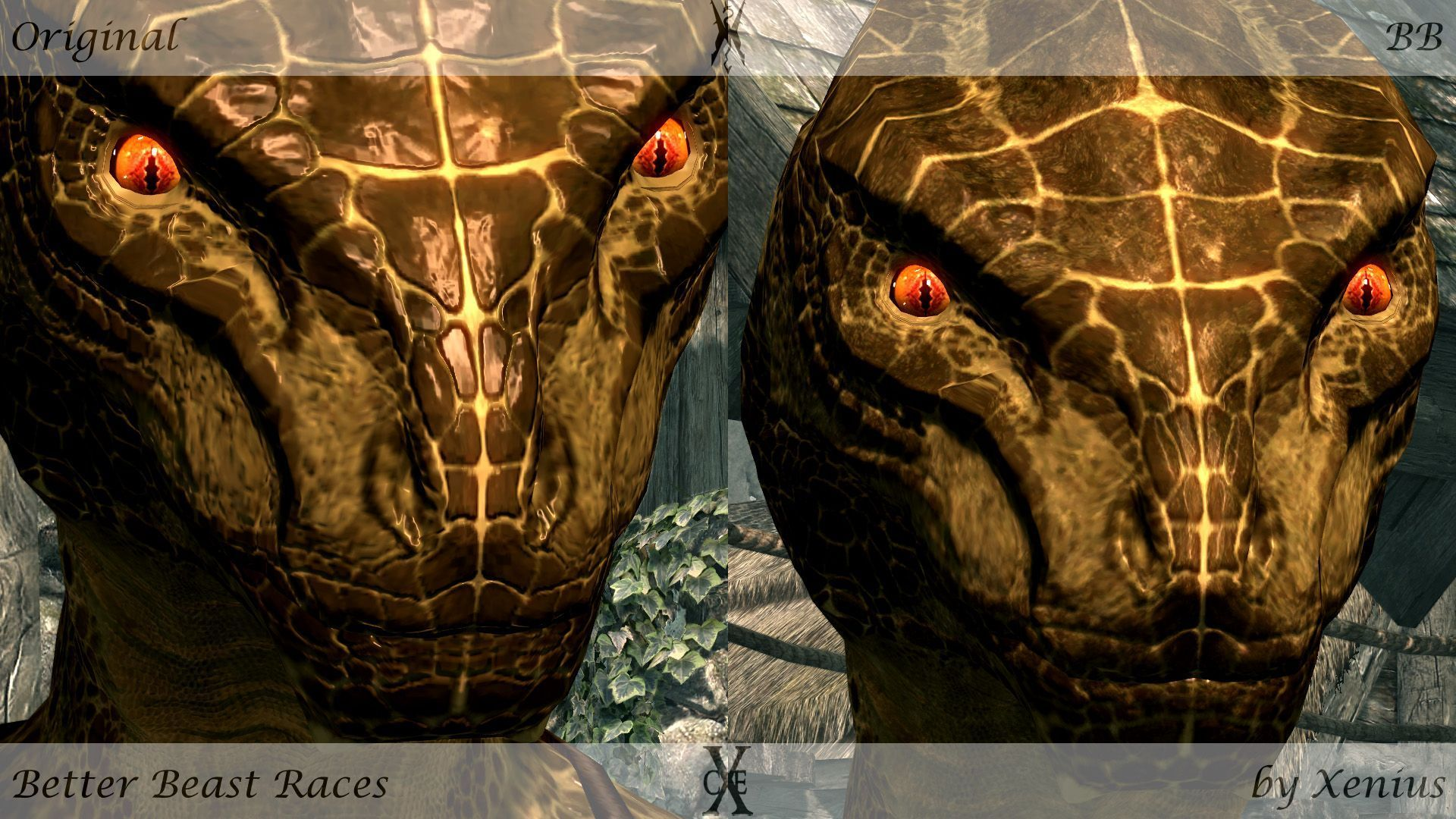 Improved argonian facial