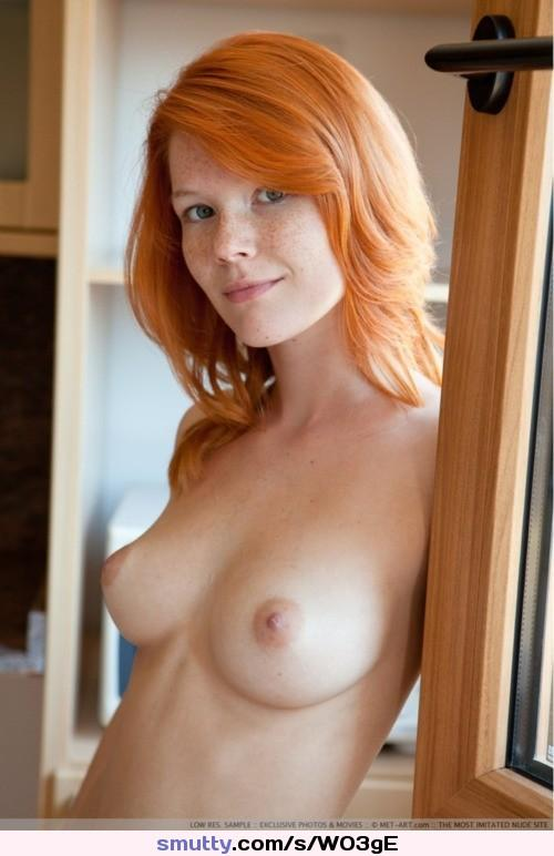 Good Big natural tits pale redhead