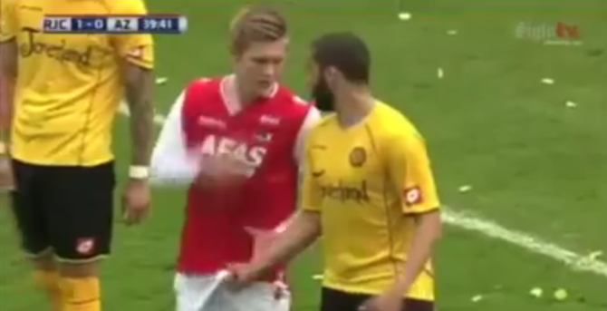 best of Grabbing Football cock players