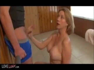 Cum hand job mature shot