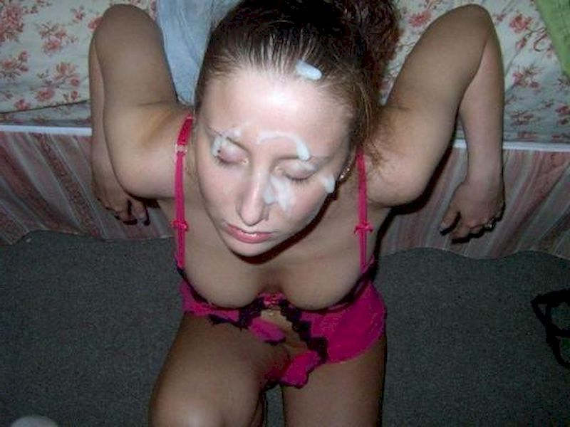 Homemade amateur porn facial can