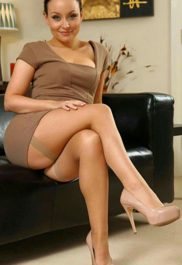 Above Milf pantyhose nylons and heels