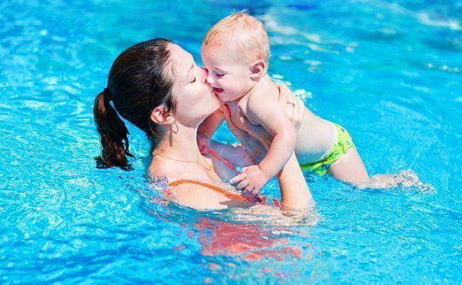 best of Pool Milf fun swimming