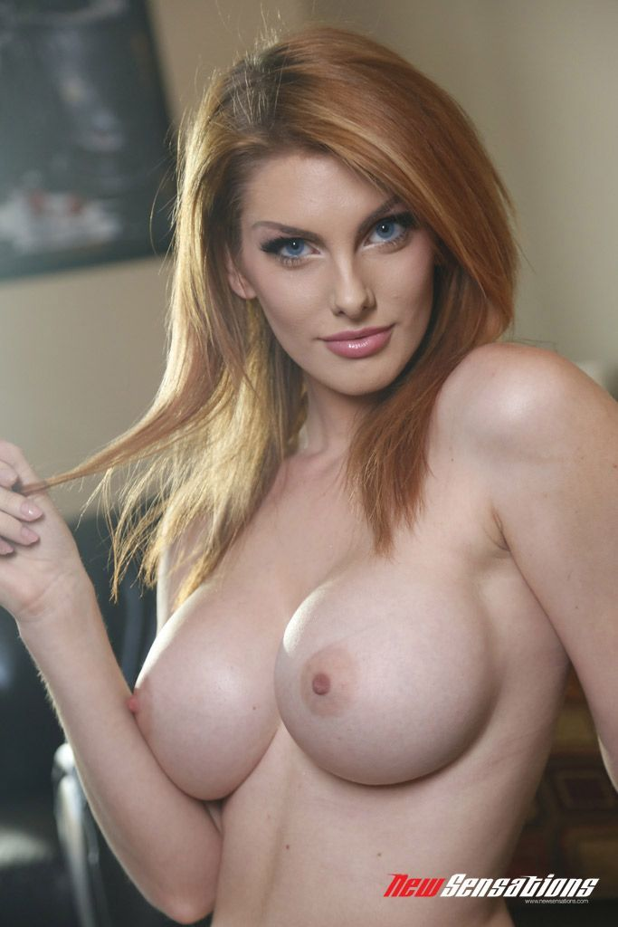 huge Pale redheads breasts with