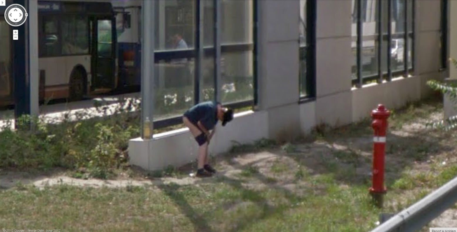 Recruit reccomend Street view peeing