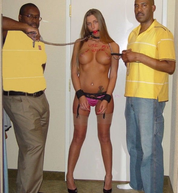 Gay slut brought naked in leash