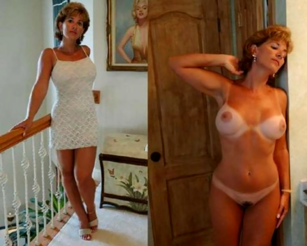 dressed undressed milf
