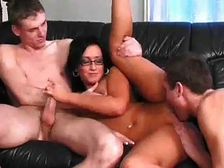Mmf big boobs gangbang domination