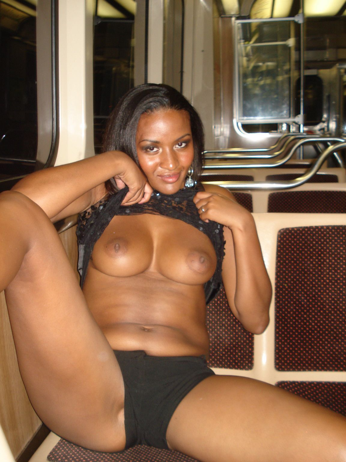 ebony sex flash