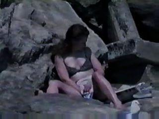 best of The caught beach masturbating