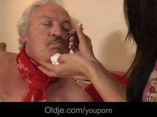 Breastfeeding old man . Porn archive.