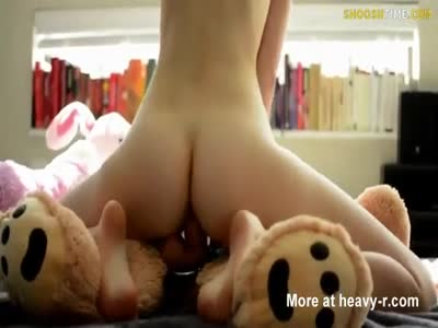 With big teddy bear blonde sexy excellent